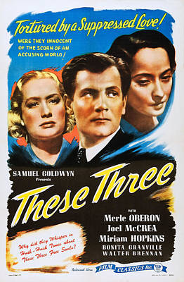 These Three, Us Poster Art, From Left Print by Everett