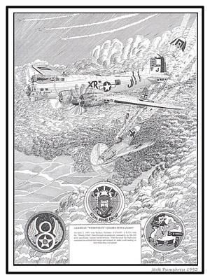 They All Lived Crash Of Boeing B 17 And Me 109 Print by Jack Pumphrey