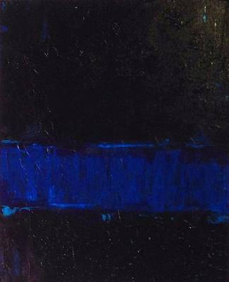 Enforcement Painting - Thin Blue Line by Sarah Jane Thompson