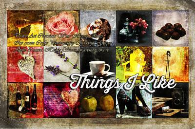 Things I Like Print by Randi Grace Nilsberg
