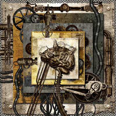 Communication Problems Digital Art - Think Machine At Work by Diuno Ashlee
