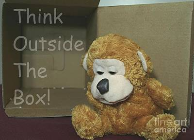 Different Stuff Photograph - Think Outside The Box by Stephen Thomas