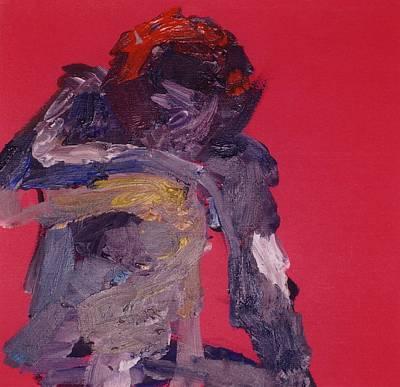 Michael Jackson Oil Painting - Thinking Man by Marina Sotiriou