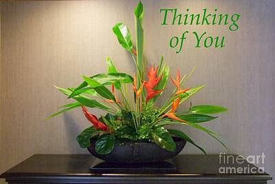 Photograph - Thinking Of You - Red Heliconia by Mary Deal