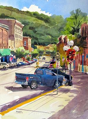 Store Fronts Painting - Third And East Red Wing by Spencer Meagher