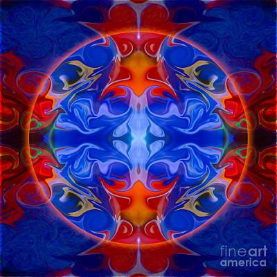 Goddess Digital Art Mixed Media - Third Eye Abstract Living Art By Omaste Witkowski by Omaste Witkowski