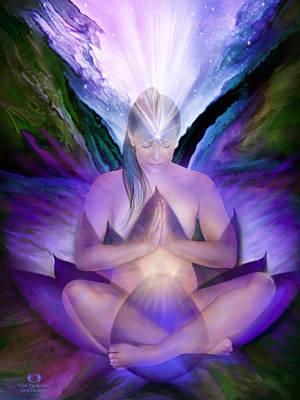 Third Eye Chakra Goddess Print by Carol Cavalaris
