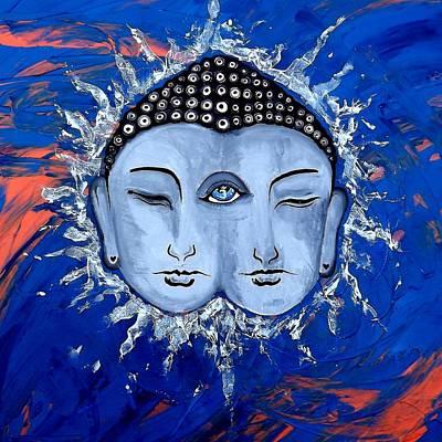 Ajna Painting - Third Eye Chakra Healing And Energy Indigo by Aguilar and Company