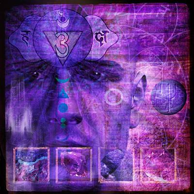 3rd Base Digital Art - Third Eye Chakra by Mark Preston