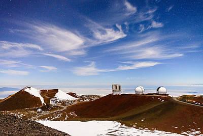 Keck Photograph - Thin Cirrus Above Mauna Kea by Jason Chu