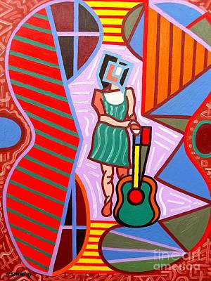 Irish Rock Band Painting - This Guitar Is More Than An Instrument by Patrick J Murphy