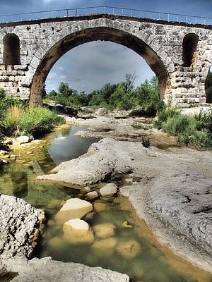 This Is A Roman Bridge, Called Pont Print by Julie Eggers