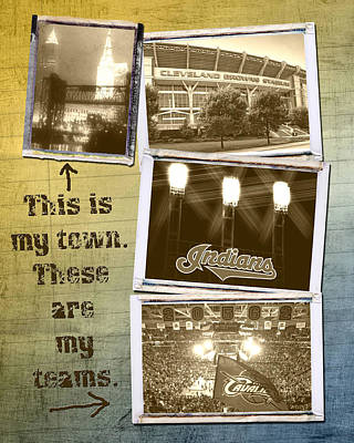 This Is My Town These Are My Teams Print by Kenneth Krolikowski