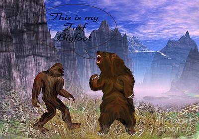 Turf Digital Art - This Is My Turf Bigfoot Digital Painting by Heinz G Mielke