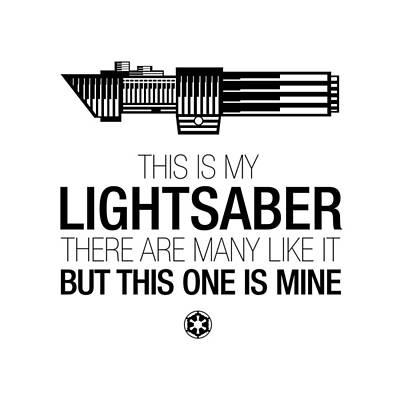 Digital Art - This Is Vader's Lightsaber by Vincent Carrozza