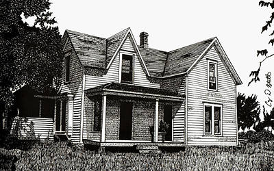 Old House Drawing - This Old House by Cory Still