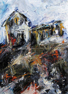 Rural Decay Mixed Media - This Old House by Jim Vance