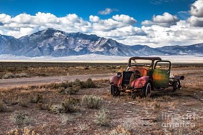 Haybales Photograph - This Old Truck by Robert Bales