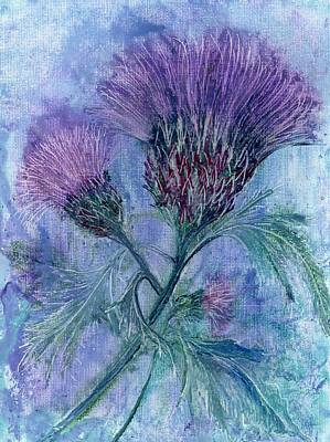 Hot Wax Painting - Thistle by Carol Rowland