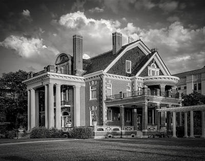 Mansion Photograph - Thistle Hill Bw by Joan Carroll