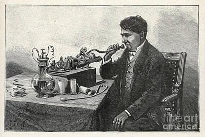 Thomas Alva Edison Photograph - Thomas Alva Edison by Mary Evans