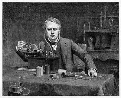 1880 Photograph - Thomas Edison by Cci Archives