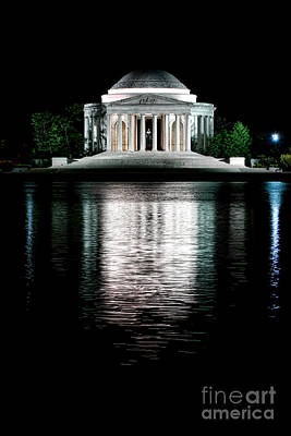 Jefferson Memorial Photograph - Thomas Jefferson Forever by Olivier Le Queinec
