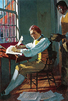 Slaves Photograph - Thomas Jefferson In His Study by Stanley Meltzoff / Silverfish Press
