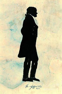 Thomas Jefferson Silhouette 1800 Print by Padre Art