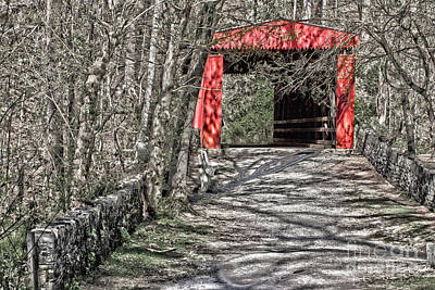 Fall Photograph - Thomas Mill Covered Bridge by Tom Gari Gallery-Three-Photography