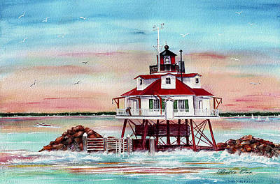 Thomas Point Lighthouse Original by Bette Orr