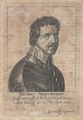 Thomas Wentworth Print by British Library