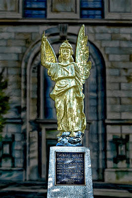 Famous Book Digital Art - Thomas Wolfe Memorial Angel by John Haldane