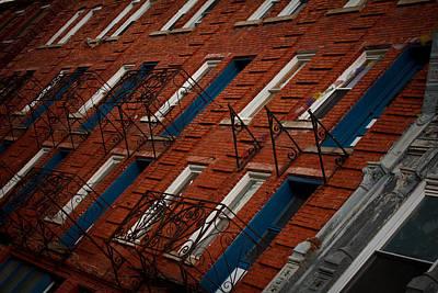 Brick Street Photograph - Thomas Wv by Shane Holsclaw