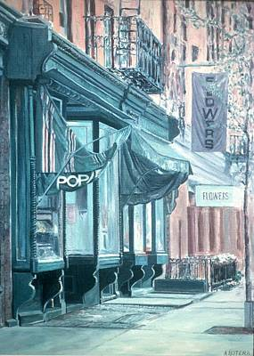 Storefront Painting - Thompson Street by Anthony Butera