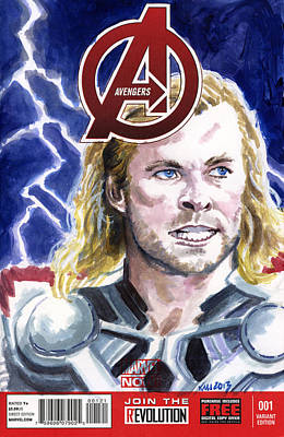 Thor Print by Ken Meyer jr