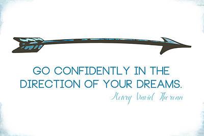 Graduation Digital Art - Thoreau Arrow by Nancy Ingersoll
