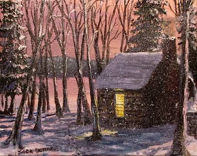 Painting - Thoreau's Cabin by Jack Skinner