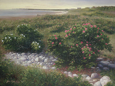 Cape Cod Painting - Thorns Among Roses by Julia O'Malley-Keyes