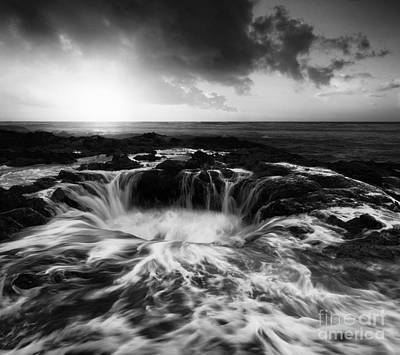 Thors Well Oregon Monochrome Print by Bob Christopher