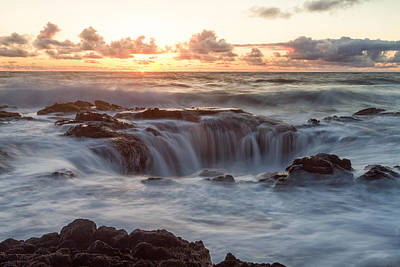 Thor's Well Print by Patricia Davidson