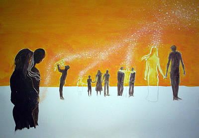 Those Who Left Early Original by Lazaro Hurtado