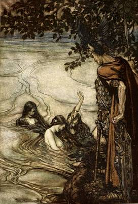 Though Gaily Ye May Laugh, In Grief Ye Print by Arthur Rackham