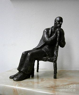 Statue Sculpture - Thoughtful Man by Nikola Litchkov