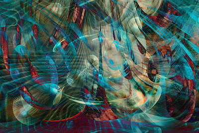 Energy Art Movement Digital Art - Thoughts In Motion by Linda Sannuti