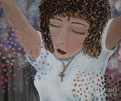 Thoughts Of Praise Print by Patsy Gunn