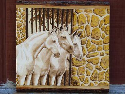 Three At The Gate Original by Laurisa Borlovan