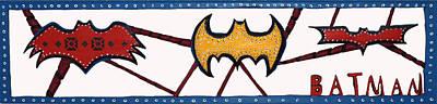 Three Bat Signals Print by Robert Margetts