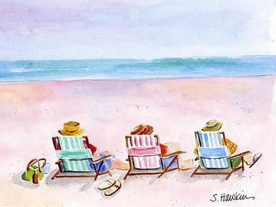 Relax Painting - Three Beach Amigos by Sheryl Heatherly Hawkins