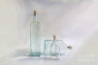Three Bottles Print by Veikko Suikkanen